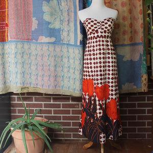 Maeve Strapless Floral Dress